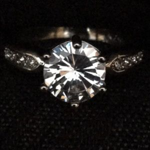 Jewelry - Silver Crystal Engagement Ring
